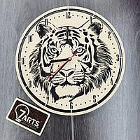 Бесшумные настенные часы из дерева «Тигр»