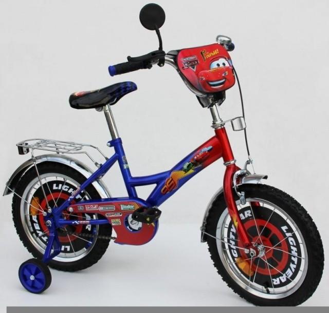 Детский Велосипед 2-х колесный Тачки 16