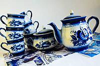 Чайный набор Витязь, гжель