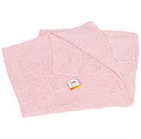 Плед детский хлопок розовый
