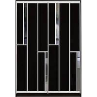 Шкаф-купе с комбинированными фасадами ДСП/Зеркало двухдверный
