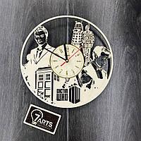 Часы настенные с лазерной гравировкой «Doctor Who»