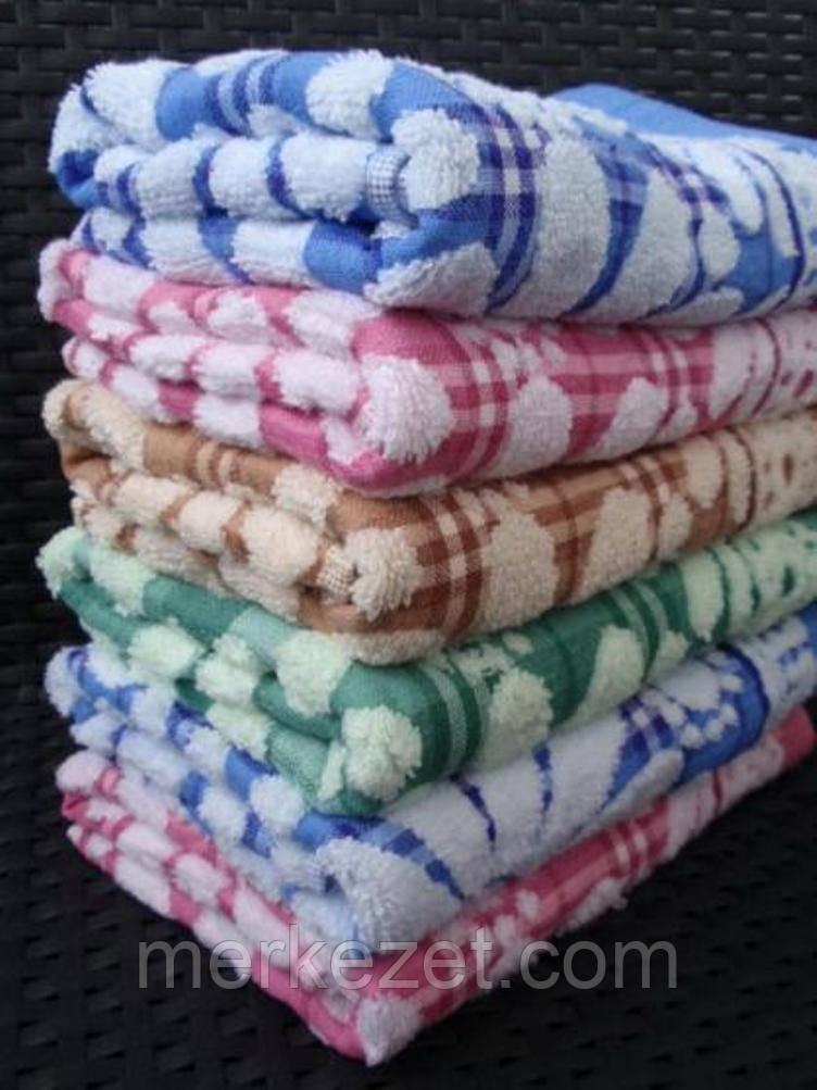 """Махровые полотенца """"Поле ромашек"""". Махра + лен, полотенце для бани"""