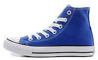 Мужские высокие кеды Converse Chuck Taylor All Star (конверс) синие