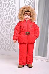 Комплект зимний для  девочки «Монклер»