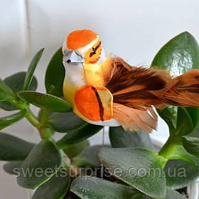Птичка для декора (на палочке)