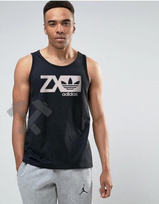 Мужская майка Adidas Originals ZX черного цвета