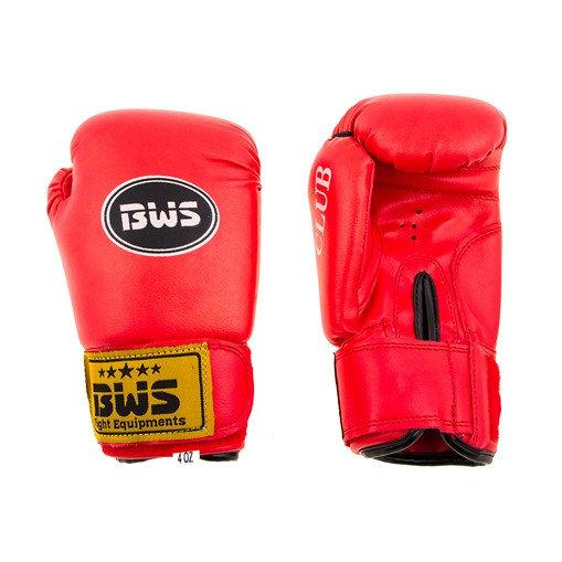 Боксерские перчатки CLUB BWS 6oz красный. Распродажа! Оптом и в розницу!
