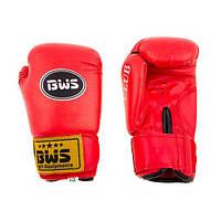 Боксерские перчатки CLUB BWS PVC 6oz красный. Распродажа!