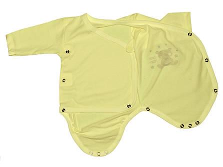 Боди для новорожденных на запахе Мишка Тедди 3-6 мес, фото 2