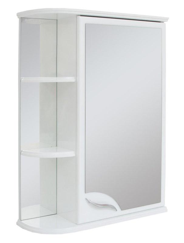 Зеркальный шкаф для ванной комнаты Базис 55-01 правый ПИК