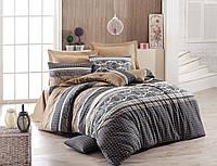 Комплект постельного белья ЕВРО размера Eponj Home RETRO KAHVE SV1
