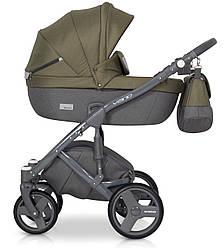 Детская коляска универсальная 2 в 1 Riko Vario 03 olive (Рико Варио, Польша)