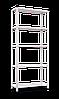 Стеллаж REK-2 на болтовом соединении крашеный с металлической полкой (1700х750х300)