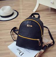 Женский мини рюкзак ПУ кожа черный