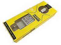 Оригинал СЗУ Сетевое зарядное устройство Samsung c USB кабелем micro Fast Charger