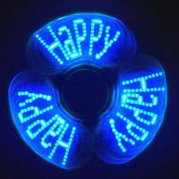 Спиннер антистресс пластик + свет строка Spinner