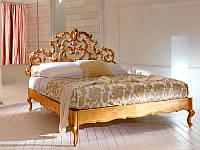 Кровать двуспальная ALUR - резная из массива дерева