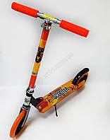 Самокат для підлітків і дорослих Scooter Start (від 5 років, до 80 кг) помаранчевий