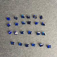 Сапфир квадрат принцесса 2,5 мм