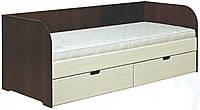 Кровать односпальная ДК-800 МДФ с ящиками серия Уют  (Абсолют) 830х2030х750мм