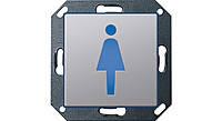 """Светодиодный указатель для ориентации с пиктограммой """"Женский туалет"""" Gira E22 Алюминий (2793203)"""