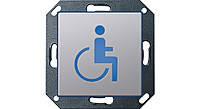 """Светодиодный указатель для ориентации с пиктограммой """"Инвалид"""" Gira E22 Алюминий (2794203)"""