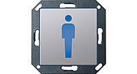 """Светодиодный указатель для ориентации с пиктограммой """"Туалет М"""" Gira E22 Алюминий (2792203)"""