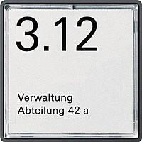 Указательная табличка 1-местная для рамок из стали и алюминия Gira E22 (1071202)