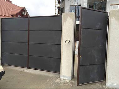 Автоматические ворота из сендвич-панелей с приводами Came ATI 3000