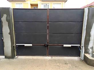 Автоматика Came ATI 3000 для распашных въездных ворот. Ворота во двор автоматические
