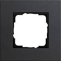 Установочная рамка 1-местная Gira Esprit (Линолеум-Мультиплекс) Антрацит (0211226)