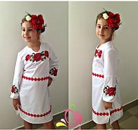 Платье-вышиванка украинская для девочки,8-11 лет