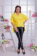 Блуза асимметричной длины из штапеля
