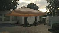 Зонт для летних кафе квадратный с серебряным напылением и клапаном 4х4 м