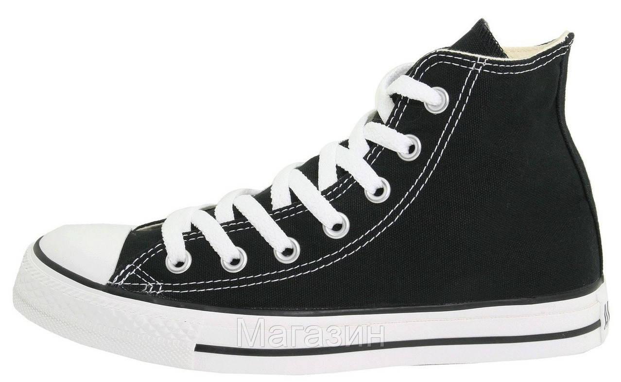 Мужские Высокие Кеды Converse All Star (конверсы) Черные — в ... 554d1ed85c1