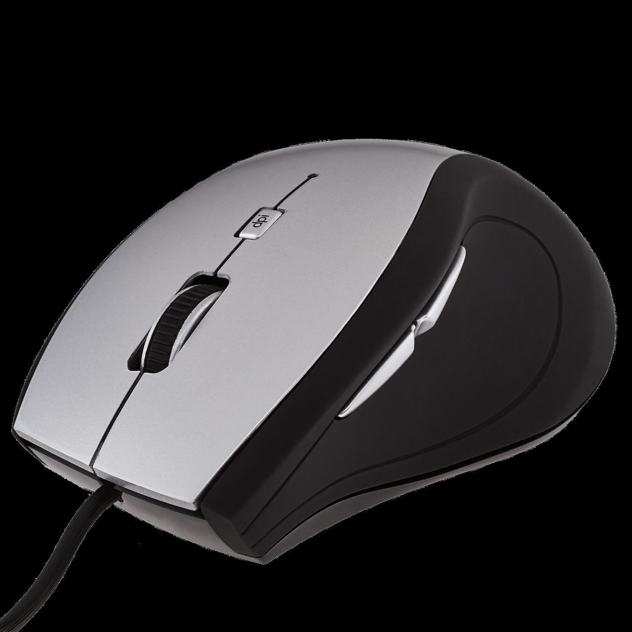 Мышка LogicFox LF-MS044 чёрно-серебристая, USB
