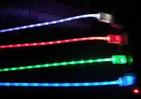 Кабель зарядка USB для Samsung с LED индикатором!Опт