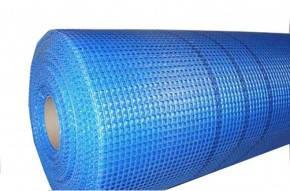Сетка фасадная строительная армирующая синяя 1м х 50м.п., 145гр/м2 рулон