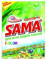 Порошок стиральный без фосфатов автомат,SAMA 400 г (весенние цветы)