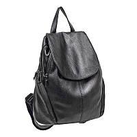 Рюкзак из натуральной кожи чёрный