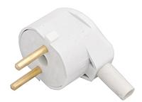 Вилка штепсельная с боковым подводом провода