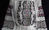 Женская вышиванка на натуральном выбеленном льне Из сундучка, фото 2