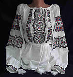 Женская вышиванка на натуральном выбеленном льне Из сундучка, фото 3