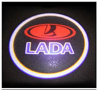 LED логотип в двери автомобиля Lada Дверной логотип марки авто