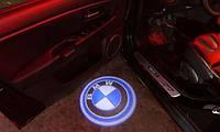LED логотип в двери автомобиля BMW Дверной логотип марки авто