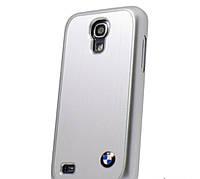 Крышка-чехол BMW для Samsung Galaxy S4 Mini Hard Brushed Aluminium Silver