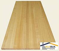 Деревянный мебельный щит из дуба, цельноламельный 1000*600*40 мм