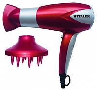 Фен для волос красный Vitalex VT-4002 фен для укладки волос ( Виталекс )