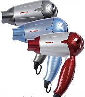 Фен для волос синий Vitalex VT-4001 дорожный складной компактный фен для укладки волос ( Виталекс )